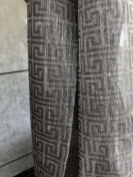 Vorhang Pirano Edle Leinenmischung I klassisch-elegantes Mäander-Motiv