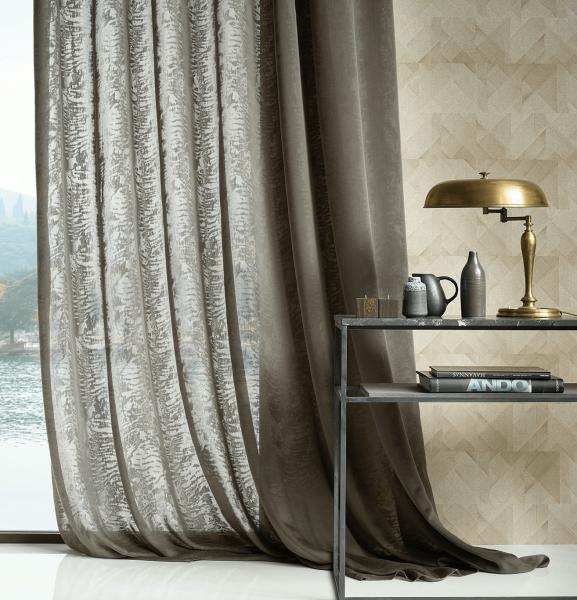 Design Vorhang Dali mit modernem Moiré Effekt I schwer entflammbar I Objekt geeignet