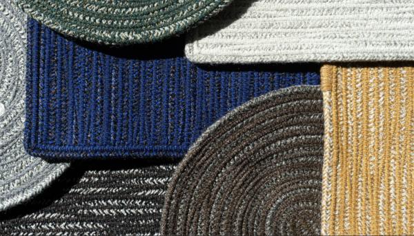 Teppich Braid I Geflochtenes Design aus 100% recycling Polyester I Wunschmaß