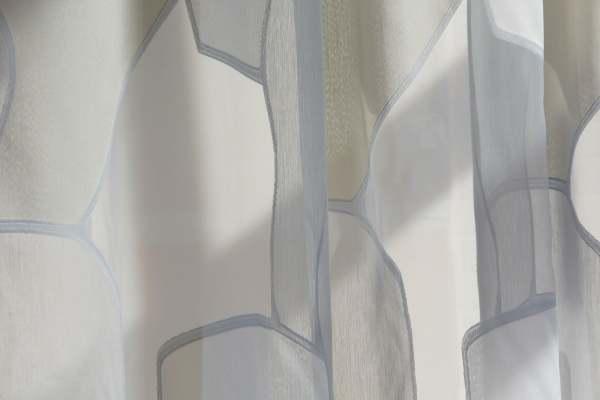 Kvadrat Vorhang Fields I Organisches Muster I Fil-coupé-Technik I Objekt geeignet