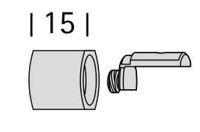 Interstil Endstück Metro für Innenlauf-Gardinenstange Corpus  I 20mm