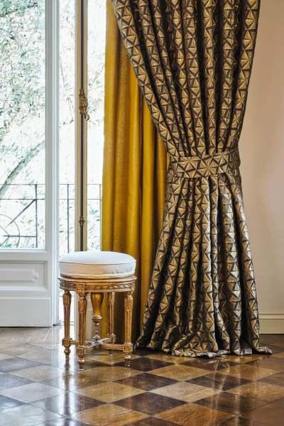 Deko Vorhang Tzar mit edlem, grafischen Muster I Pure Eleganz Grandezza Artistica