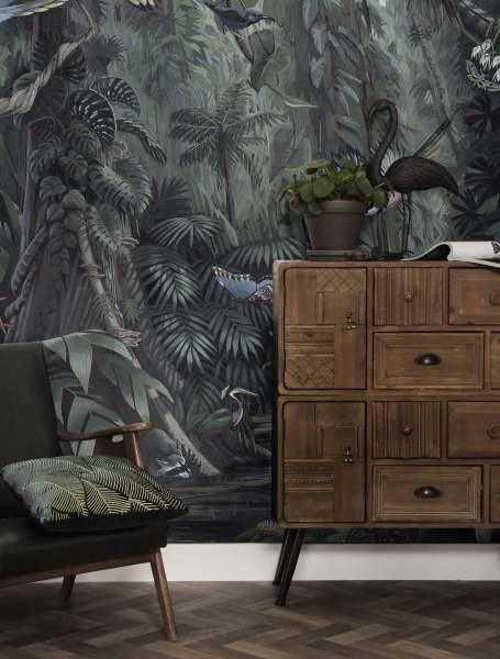 Fototapete Tropical Landscapes, 194.8 x 280cm Tapete im Urban Jungle Tropen Vögel Muster