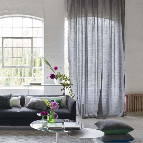 Vorhang Charollais natürliche Tweed-Optik/Webstoff I halbtransparent I Natur-Farbtöne