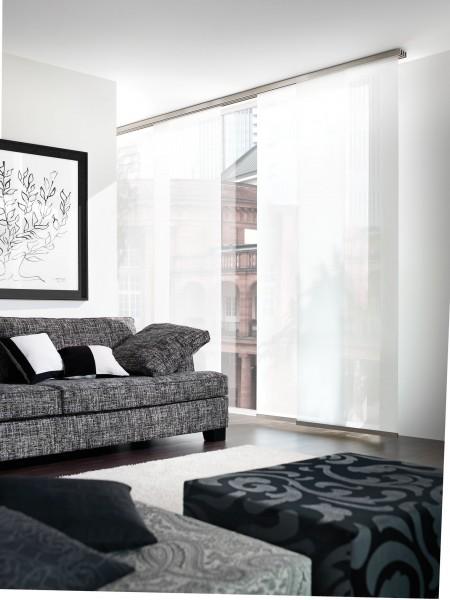 Interstil Flächenvorhangschiene Decke I Farbe Aluminium I 10% Rabatt