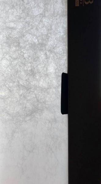 Flächenvorhang Foggy I Natürliche Fliesoptik/ Elefantenpapier weiß I blickdicht Jab