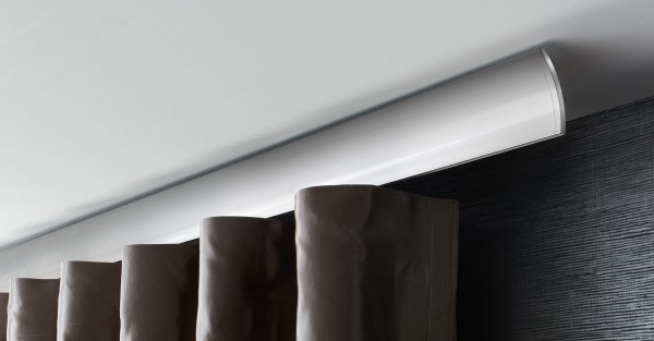 W1 Wellenvorhangsystem Vorhangstange zur Deckenmontage von Interstil