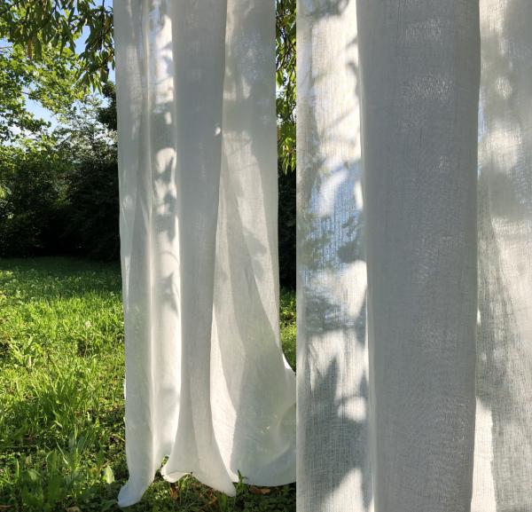 Vorhang Lavera halbtransparente Leinenmischung I Uni/Einfarbig nach Wunschmaß by Jab Anstoetz