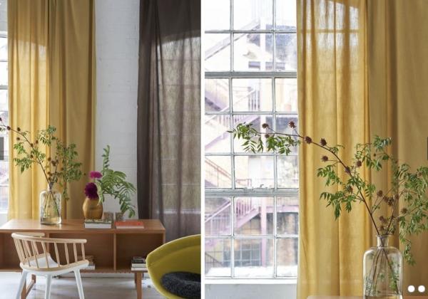 Vorhang Chaviere luxuriöse Seidenoptik I blickdicht& pflegeleicht Designers Guild