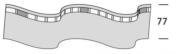Wellenband für Wellenvorhangsystem von Interstil