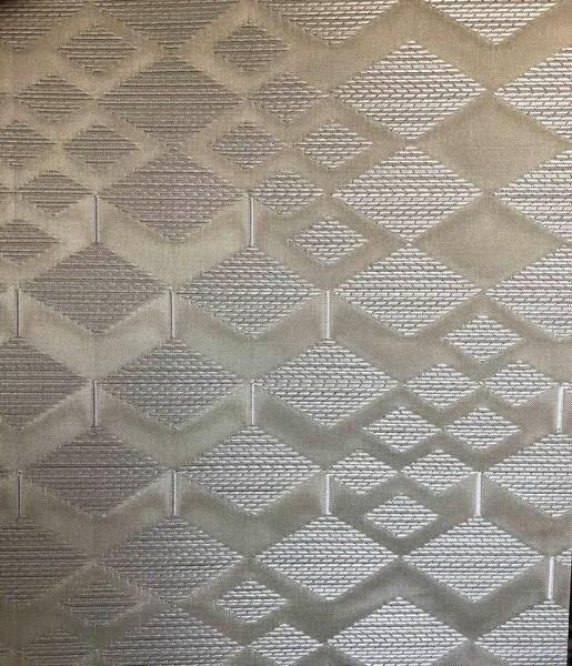 Flächenvorhang Cubes taupe/weiß Muster I halbtransparent auf Maß Jab Anstoetz