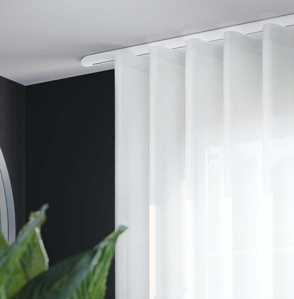 Interstil W6.1 und 6.2 Innenlauf-Gardinenstange I Moderner Wellenvorhang I Deckenmontage