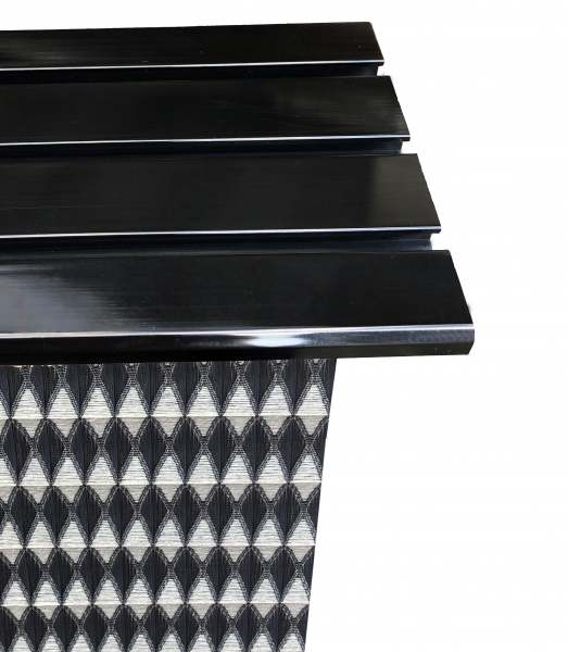Vorhangschiene Nero Aluminium I Farbe: schwarz I 1/2 2/3 3/4-läufig I Deckenmontage