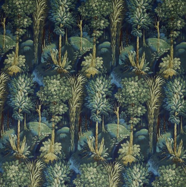 Samtvorhang Forbidden Forest mit botanischer Musterung I 1 Stück