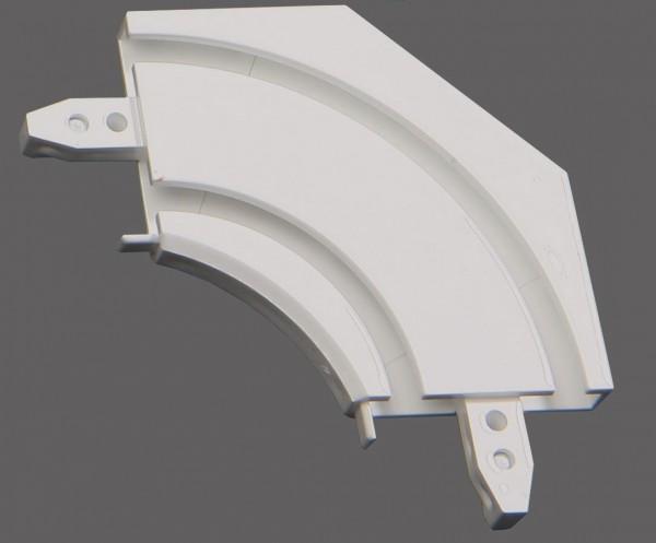 Döfix Retoure für Aluminium Gardinenschienen 1-/ 2-läufig