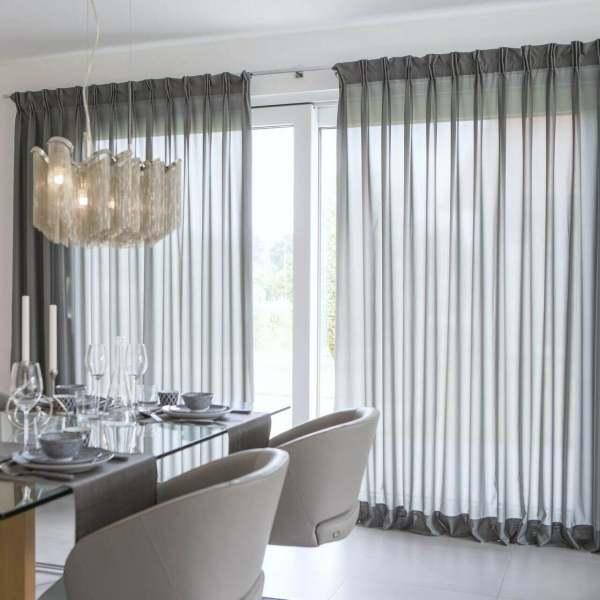 Vorhang Larice moderner, eleganter Voile halbtransparent blickdicht I Inhalt: 2 Stück