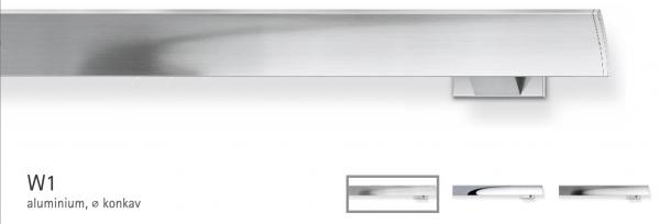 W1 Wellenvorhangsystem Aluminium von Interstil - 10% Rabatt