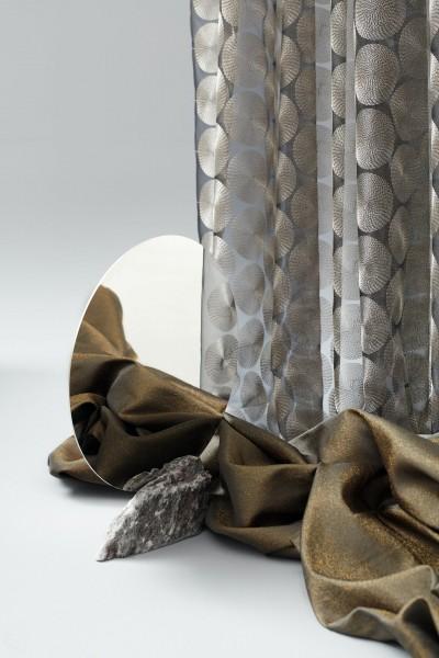 Vorhang Schal Karneol I Luxuriöser halbtransparenter Organza mit Stickerei nach Wunschmaß