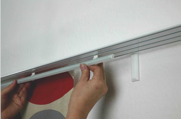 Döfix Wandträger für Aluminium Gardinenschiene