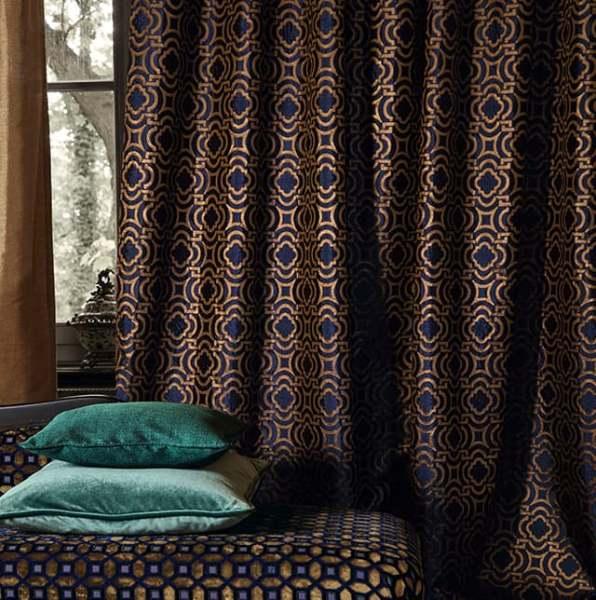Deko Vorhang Iberis I Luxuriöser Vorhang I Ornamentalisches Muster I Grandezza