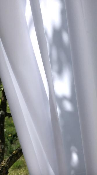 Vorhang Creme I modern, halbtransparent blickdicht ohne Struktur/glatt I Farbe: weiß