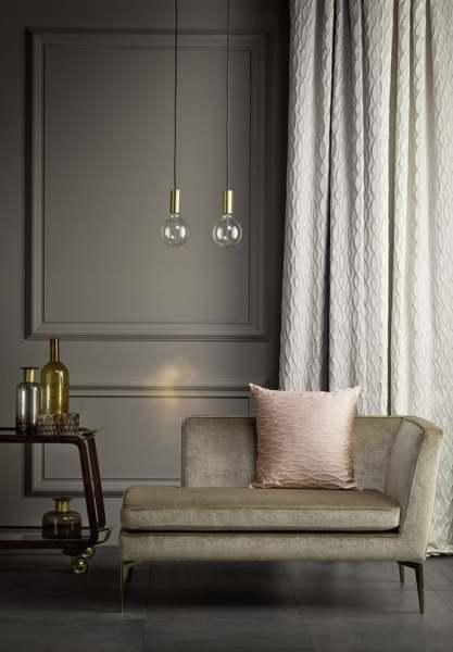 Moderner Deko Vorhang Tellur blickdicht mit elegantem Wellenmuster I Schienen& Stangen