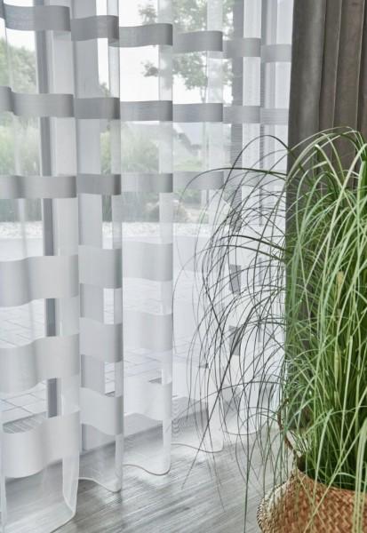 Vorhang Gloss 8-4903 I moderne Querstreifen I für Stange, Gleiter oder Haken I 1 Stück