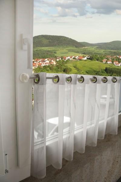 Döfix Fenstergardinenstange/Scheibengardinen mit Magnetträgern I Ohne Bohren