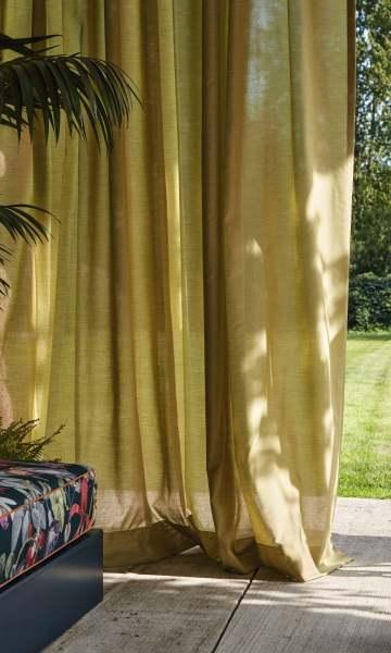 Outdoor Vorhang Air halbtransparent in natürlicher Leinenoptik für Schienen&Stangen nach Maß