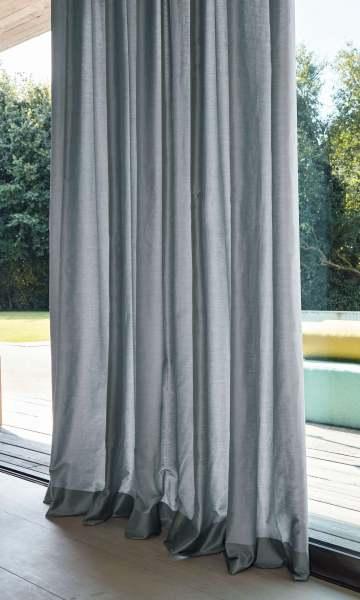 Vorhang Finalis 100% Baumwolle leicht glänzend blickdicht für Schienen&Stangen