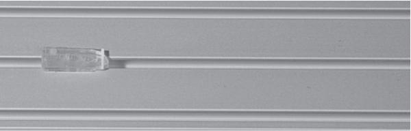 Döfix Zwischenfeststeller transparent für Innenlauf Gardinenschienen I Innenlauf 4mm