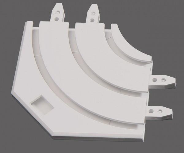 Retoure für Aluminium Gardinenschienen 3- und 4-läufig + 5- und 6-läufig von Döfix