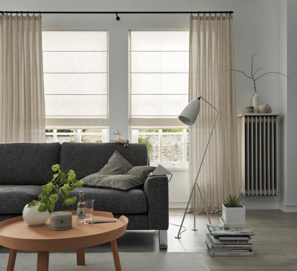 Vorhang Apart grobe Struktur I Nordic/Scandi Style I halbtransparent blickdicht auf Maß