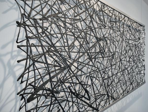 Washi-Unique aus Japanischer Maulbeerbaum-Rinde/ Japan Papier I Raumteiler, Objekt vor Wand/Fenster