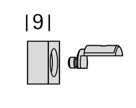 Endstück Phantom für Innenlauf-Gardinenstangen 16mm von Interstil