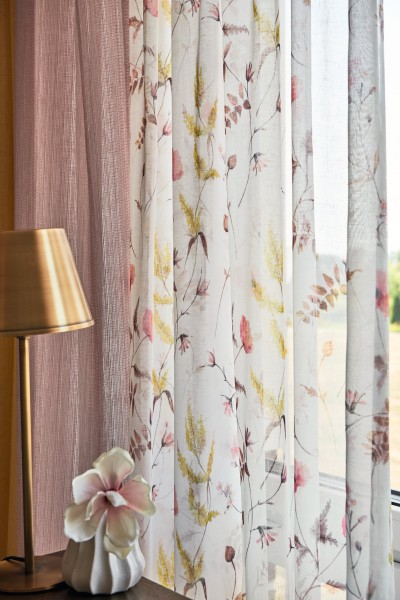 Vorhang Woody 8-4915 I Blickdichter/Halbtransparenter Deko I 1 Stück I von Jab Anstoetz
