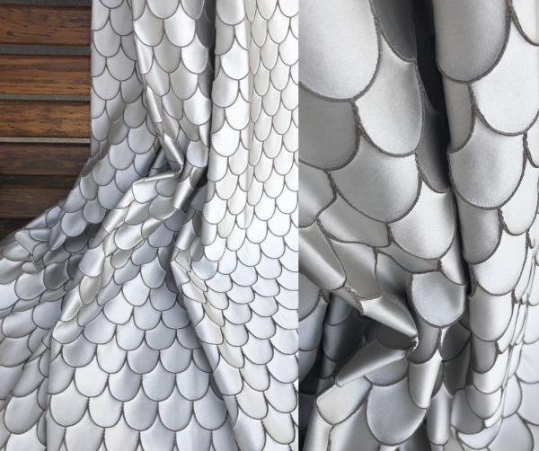 Vorhang Scandola mit elegantem Muster I Luxus nach Maß nach Wunschmaß