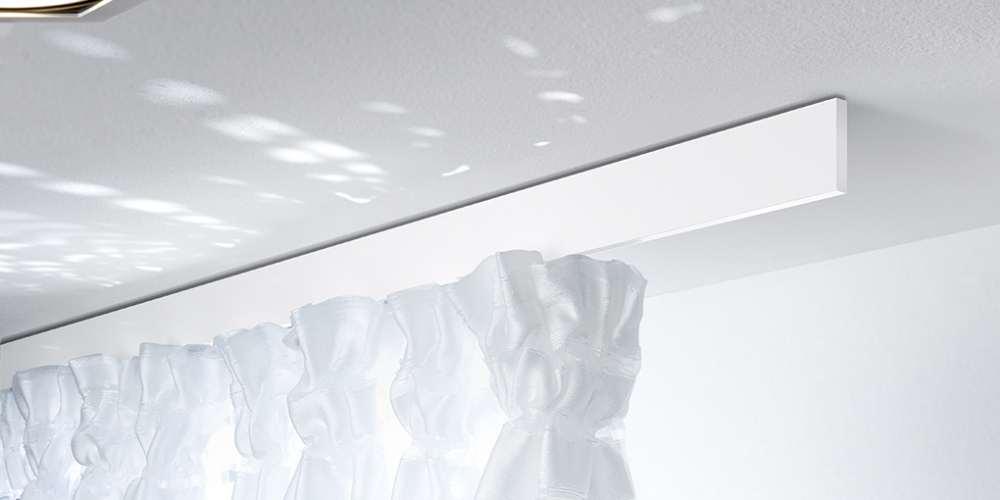 vorhangschiene deckenmontage helix 1 l ufig von interstil flach innenlaufsysteme schienen. Black Bedroom Furniture Sets. Home Design Ideas