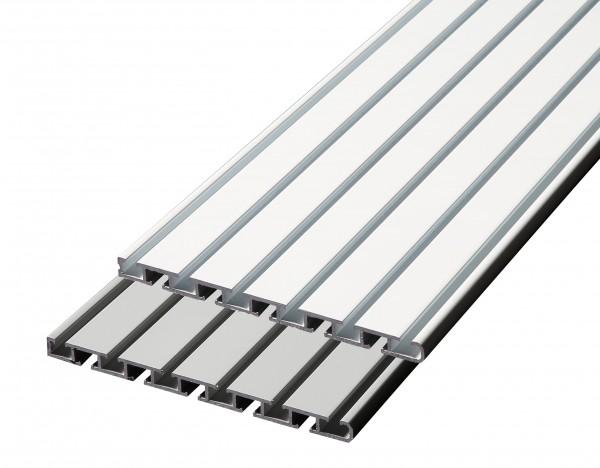 Döfix Flächenvorhangschiene aus Aluminium  5 läufig /6 läufig Wendeschiene / Gardinenschiene Deckenmontage