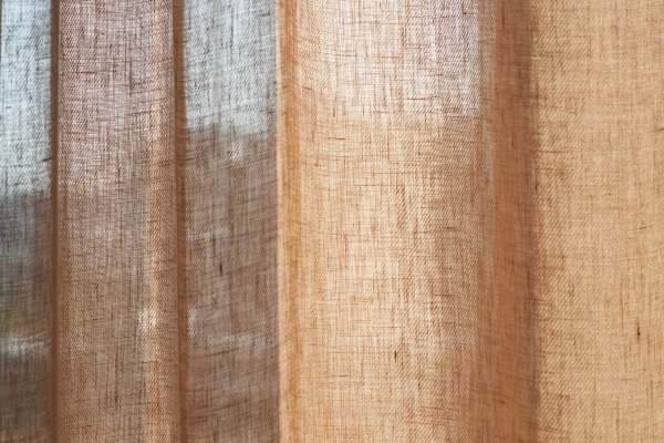 Vorhang Even aus 100% Hanf I Natürlicher Vorhang Kinnasand