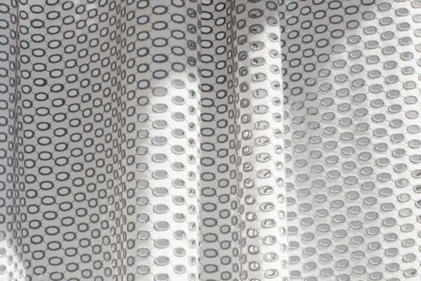 Design Vorhang Peek mit Polka Dot-Muster Stickerei Kreise I halbtransparent I Schienen&Stangen