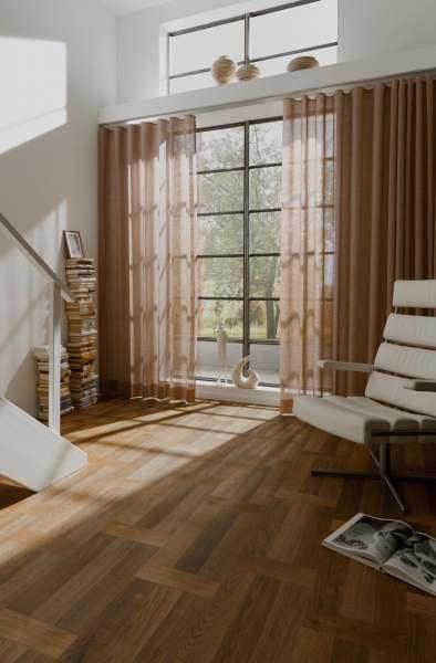 Vorhang Any mit natürlicher Leinenstruktur I halbtransparent + Wellenvorhang