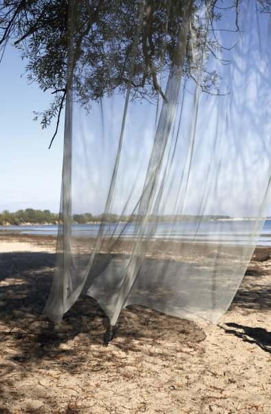 Nachhaltiger Vorhang Closed Circuit I transparent, biologisch abbaubar + schadstofffrei