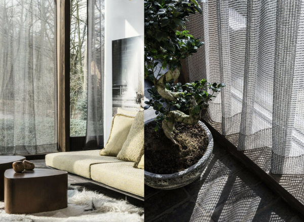 Moderner Vorhang Breezy I Nature Living/Puristische Räume I weiß/natur/grau