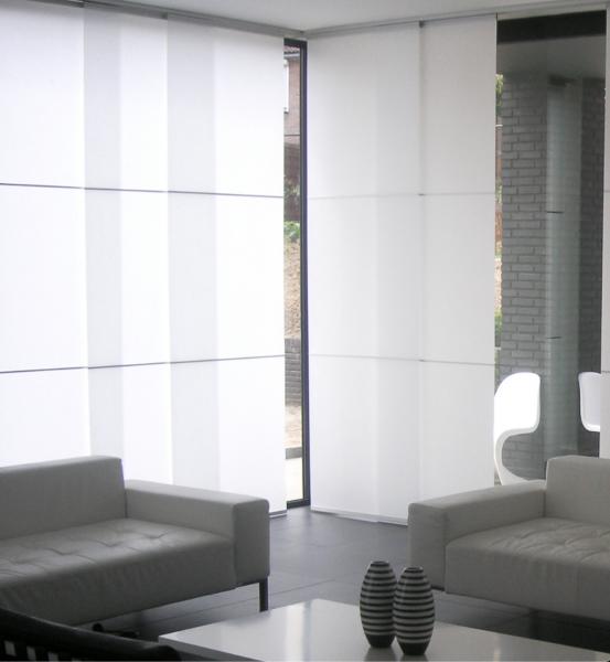 Wood&Washi Flächenvorhang Washi Core halbtransparent/blickdicht mit Querstreben: Aluminium