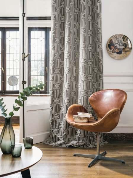 Eleganter Deko Schal Detour Satin-Jacquard Muster in natürlichen Farben I Jedes Maß