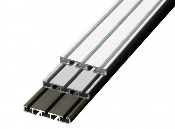 Döfix Aluminium Gardinenschiene/Objektschiene 2- und 3-läufig - Wandmontage