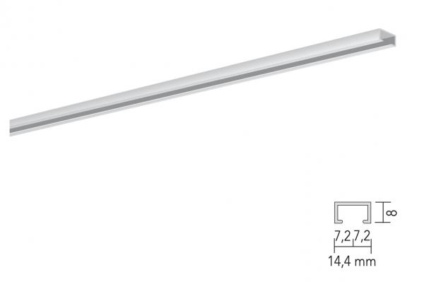 MHZ Vorhangschiene Futur einläufig schmale Schleuderschiene für leichte Vorhänge