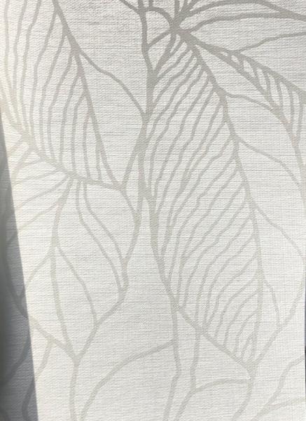 Flächenvorhang Leaves weiß blickdicht Blätter / Floral I blickdicht Jab Anstoetz