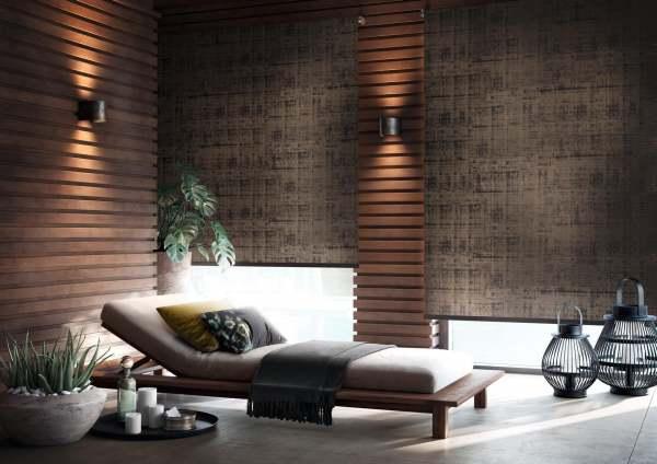 Verdunklungsrollo Asama Dark Design auf Maß I Feuchtraum geeignet I Preis auf Anfrage